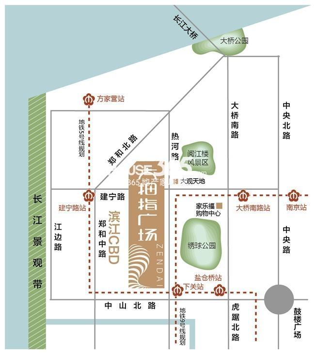 南京证大大拇指广场交通图