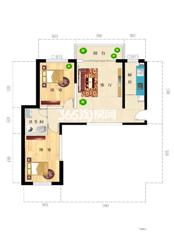 五星花园小区户型图5号楼1号房