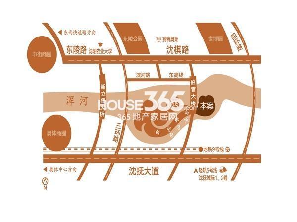 颐和城交通图