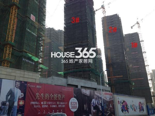 宝龙城市广场1-3#楼工程进度图(2015.4)