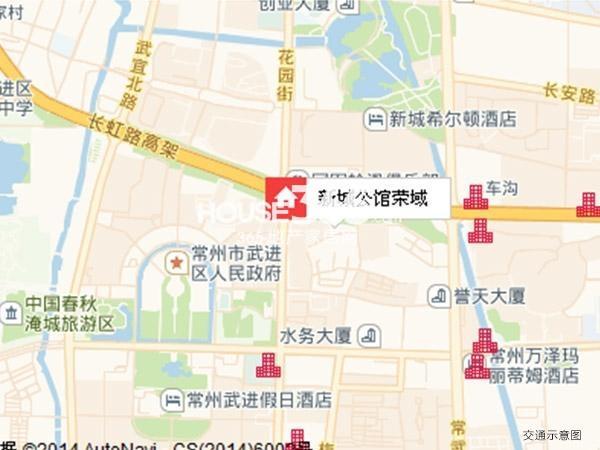 新城公馆荣域交通图