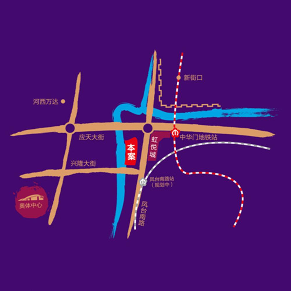 禹洲吉庆里交通区位图