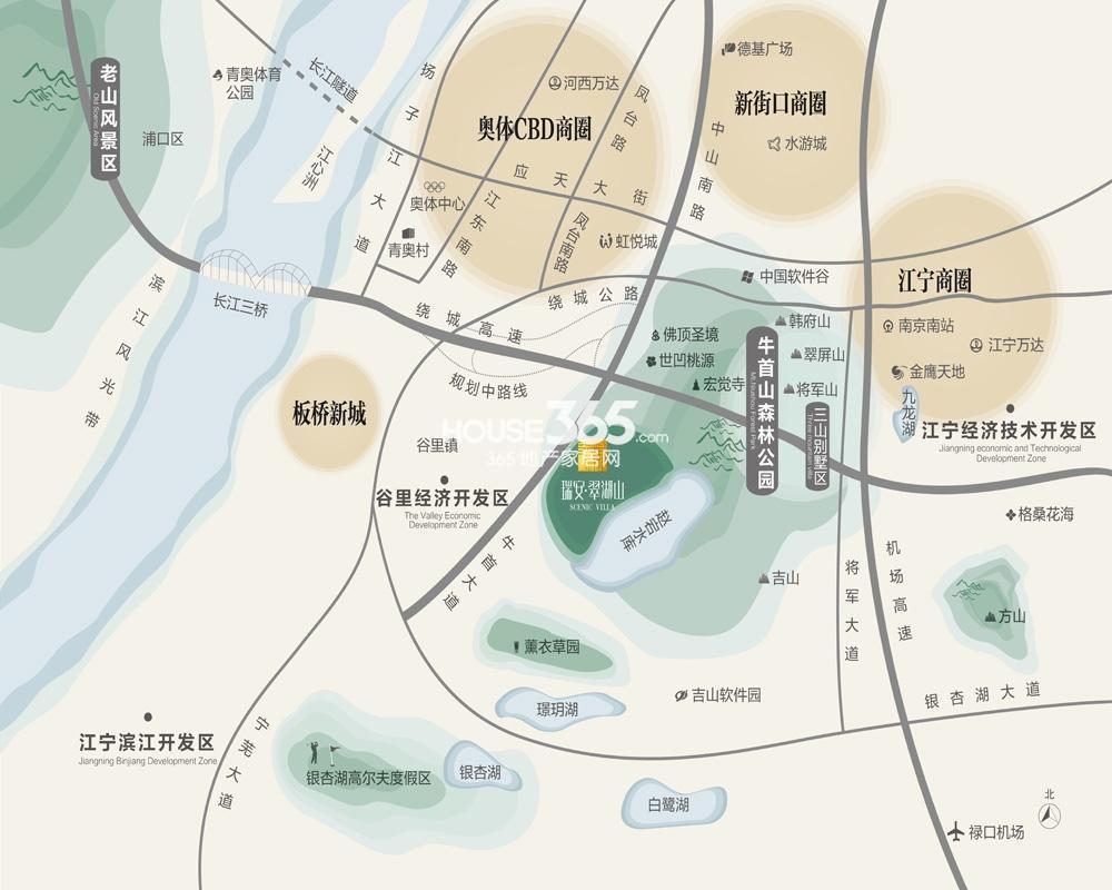 瑞安翠湖山交通区位图