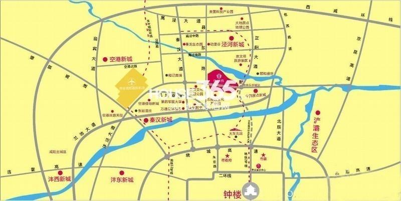 乐华城交通图