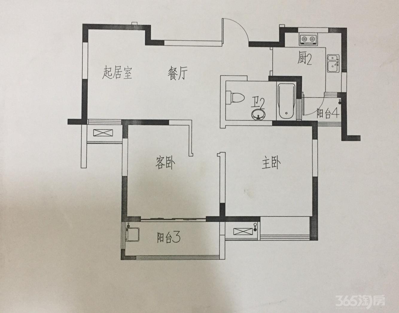 履丰苑2室1厅1卫75平米...