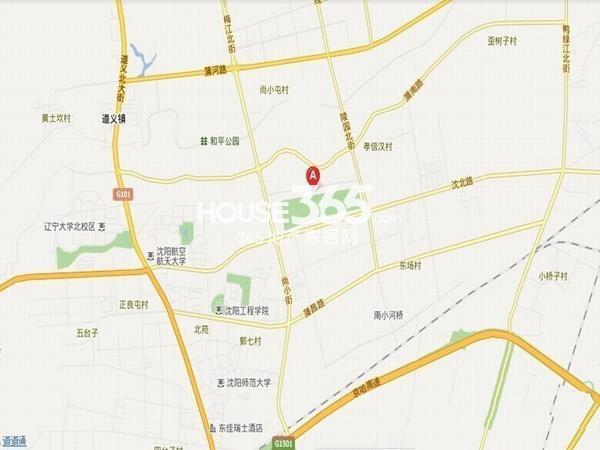 荣盛坤湖郦舍交通图