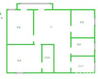 兴都花园 精装修 四室两厅两卫 看房请来电咨询