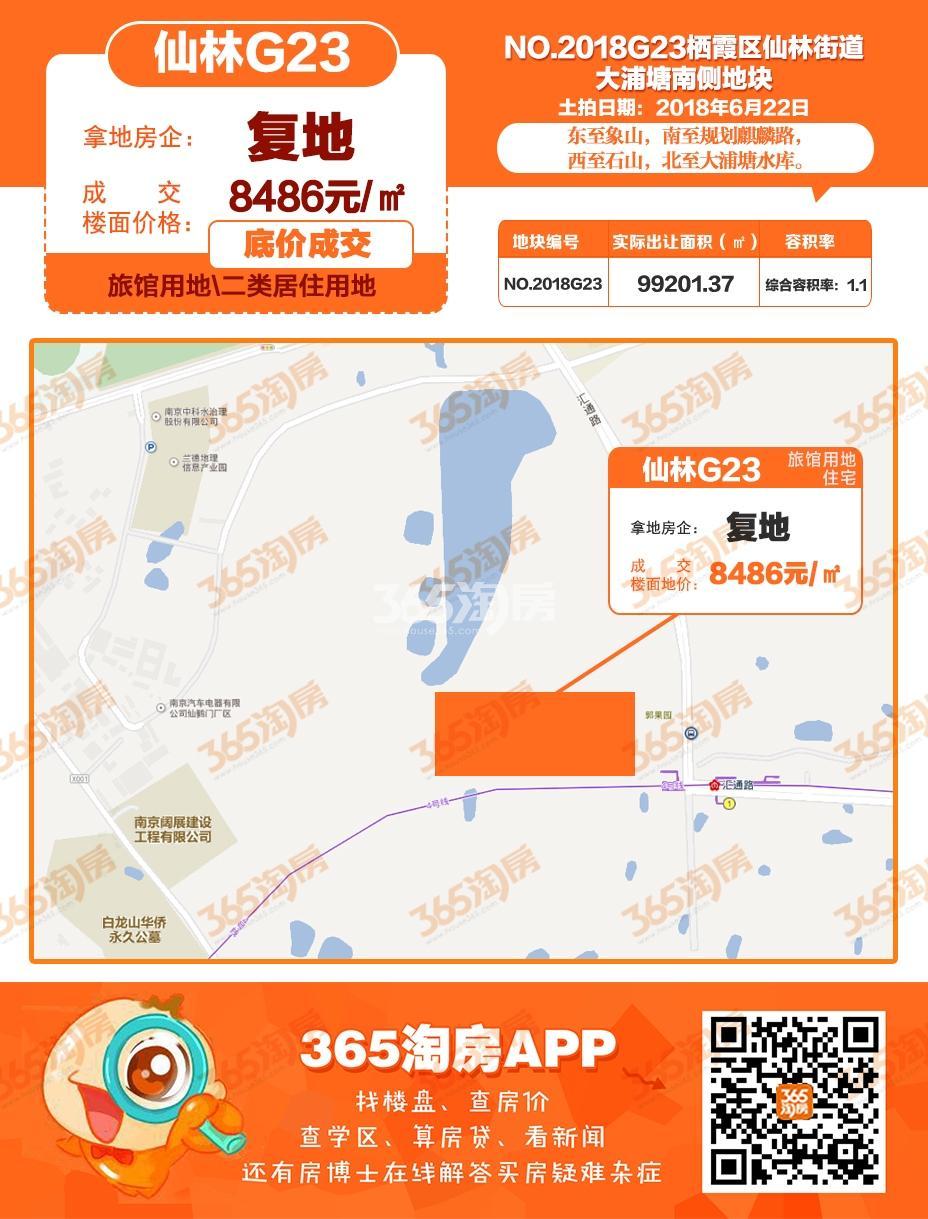 复地仙林G23地块交通图