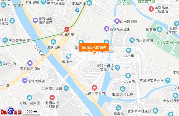 绿地西水东隽荟交通图