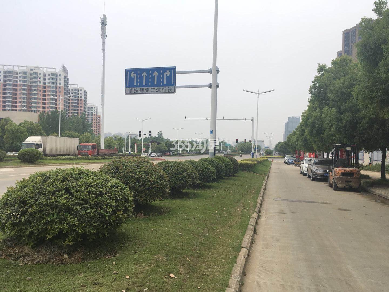 融创玖樟台项目周边路况实景图(2018.5.7)