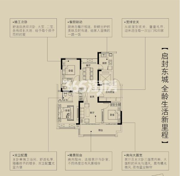 金鹏珑璟台117.97平米户型图