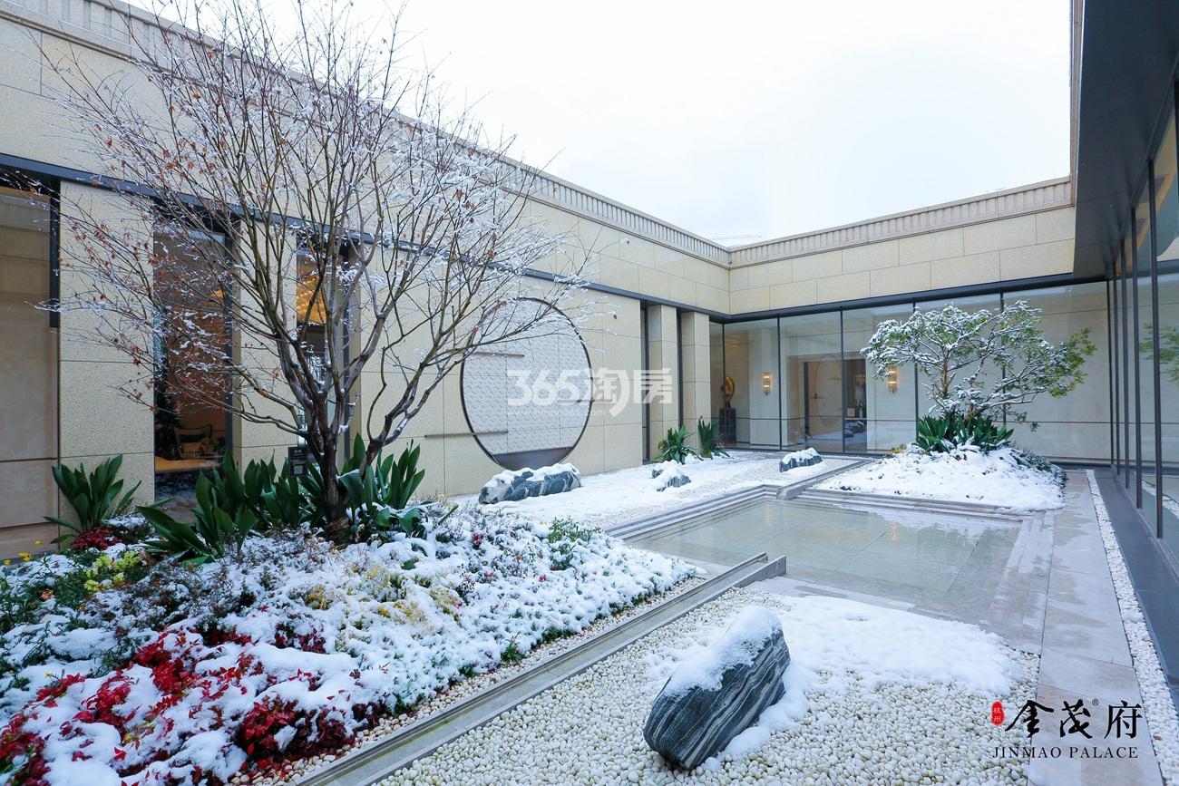 2018年1月首开杭州金茂府示范区雪景图