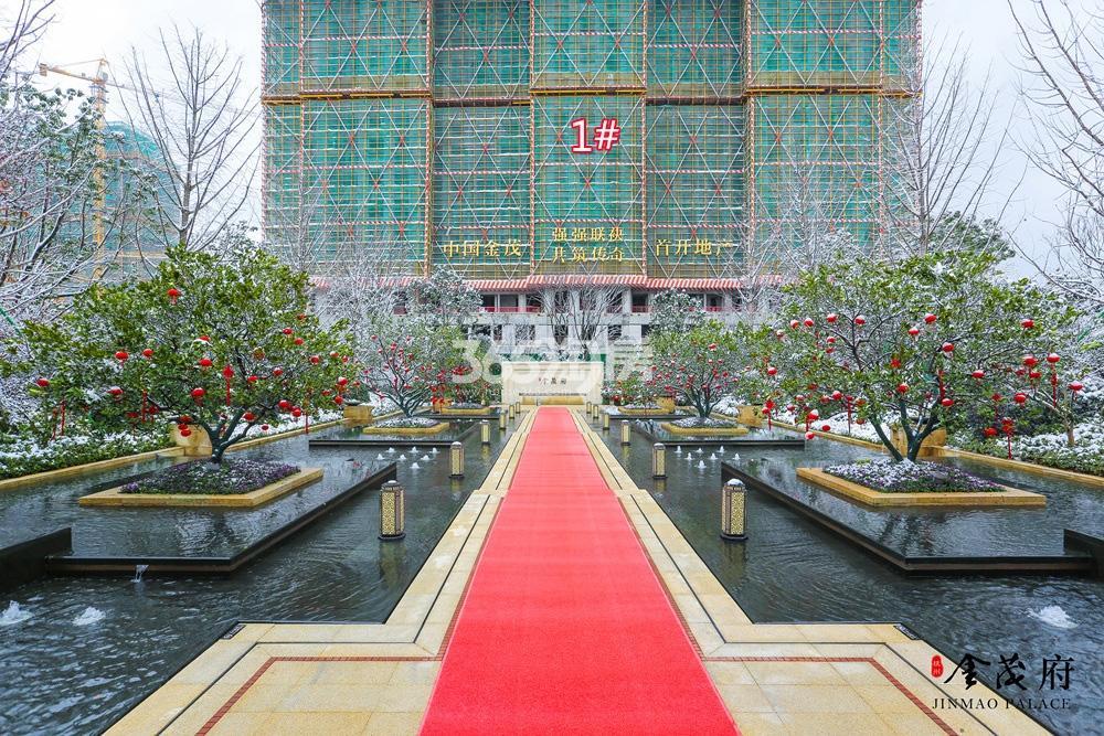2018年1月首开杭州金茂府售楼处局部及高层1号楼实景
