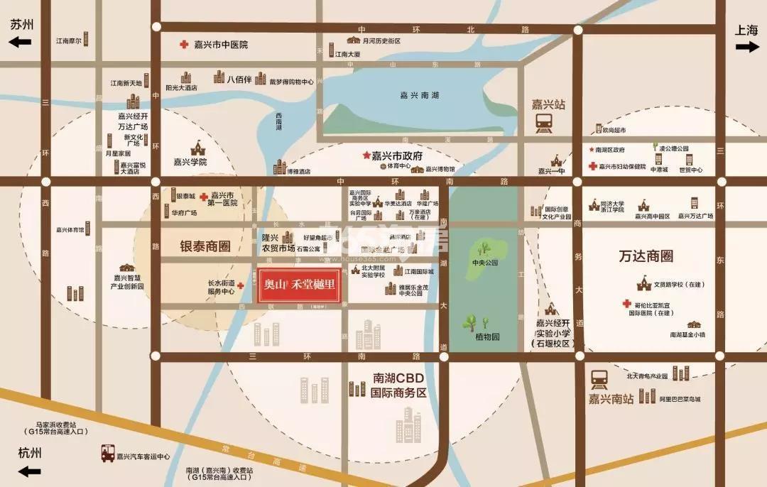 奥山·禾堂樾里交通图
