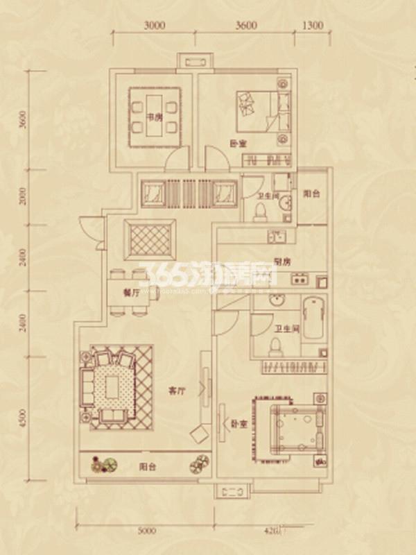 复地东山国际洋房户型图