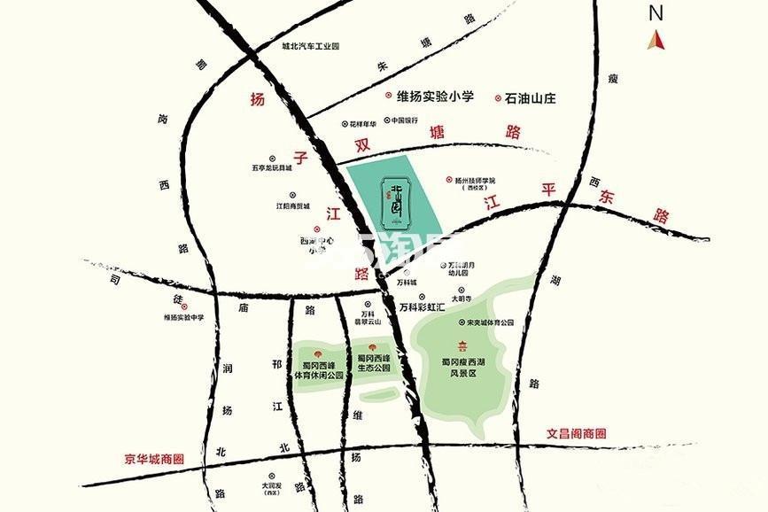 万江北山园交通图
