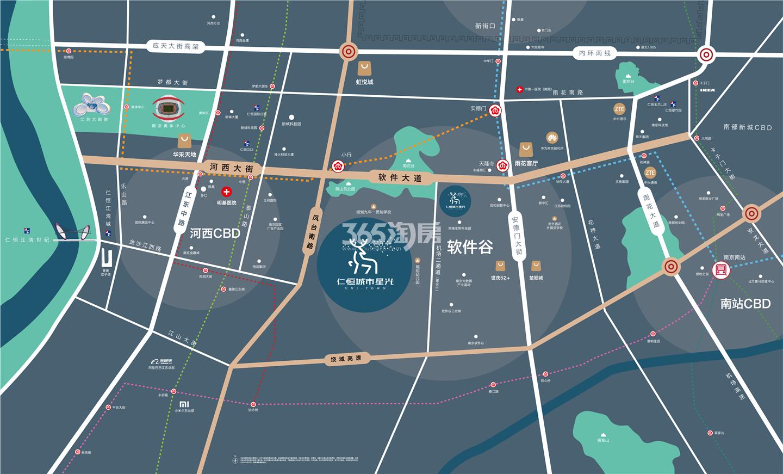 仁恒城市星光交通图