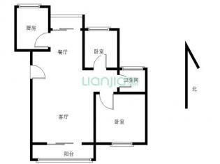 为你而选为你为家 绿地海顿公馆B 2室2厅 85平