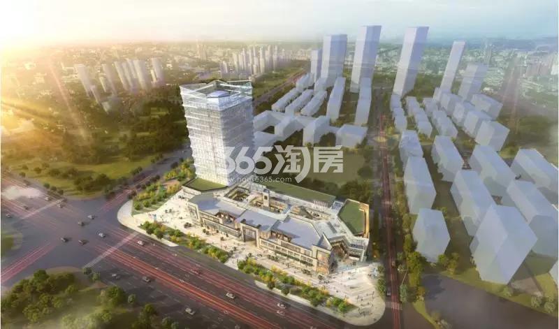 旭辉铂悦庐州府3.7万方商业鸟瞰图