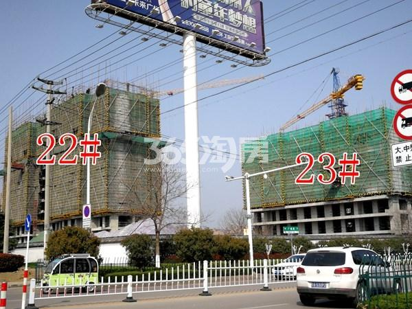城置万锦城22#、23#工地实景图1(3.27)