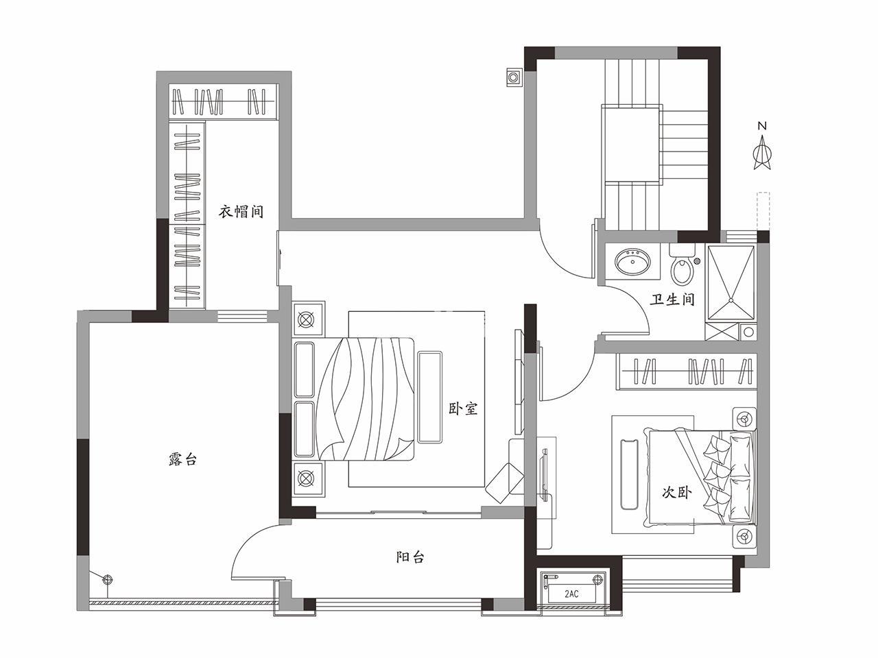 中建锦绣天地项目194㎡(二楼)户型图