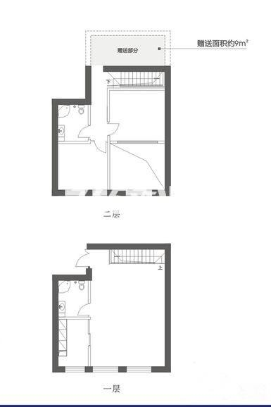 C1户型 四室两厅一厨两卫 62.12㎡