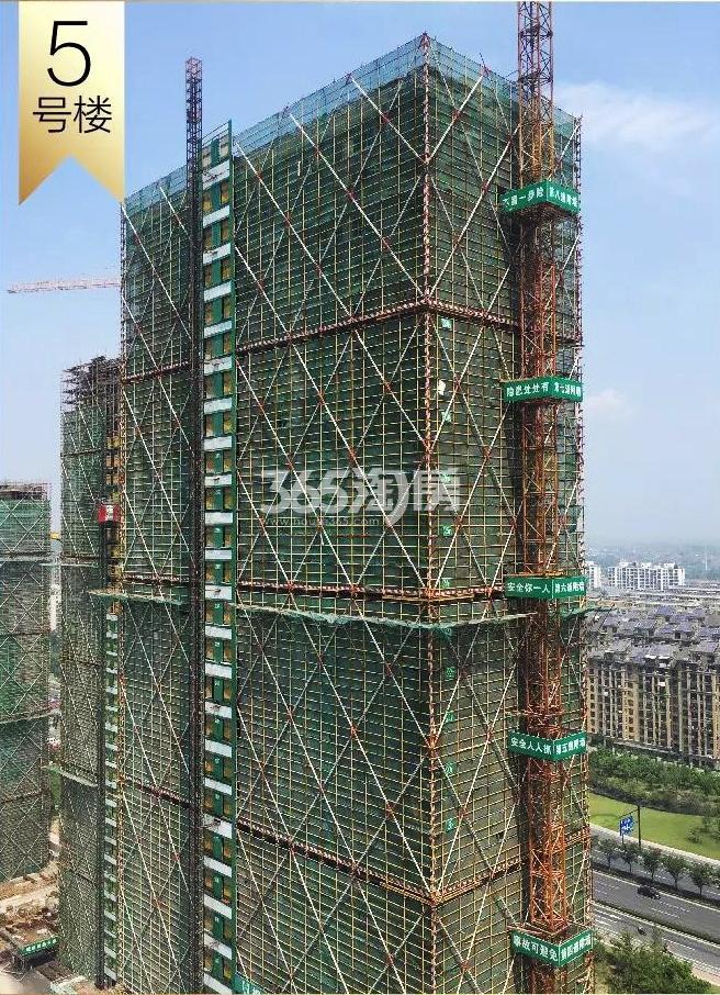 2018年8月融信澜天高层5号楼实景
