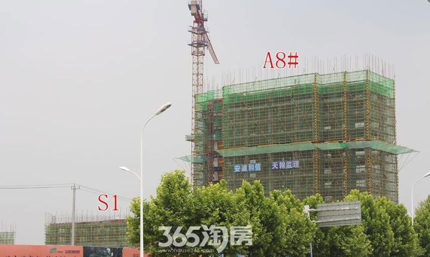东方樾府A8#楼工程进度(2017.7)