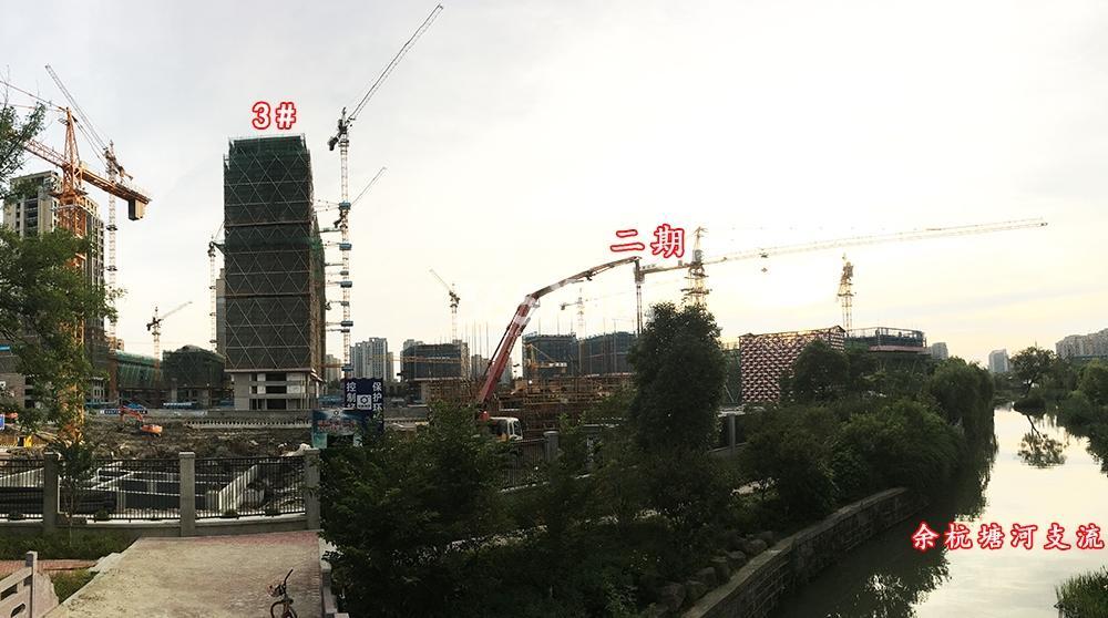 2018年6月底首开杭州金茂府一期3号楼、二期及周边实拍
