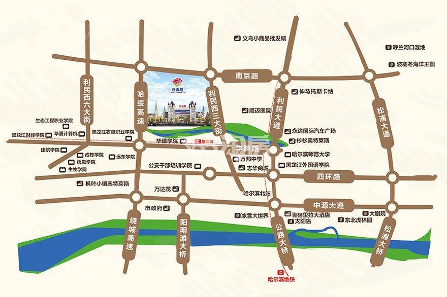 世界欢乐城交通图