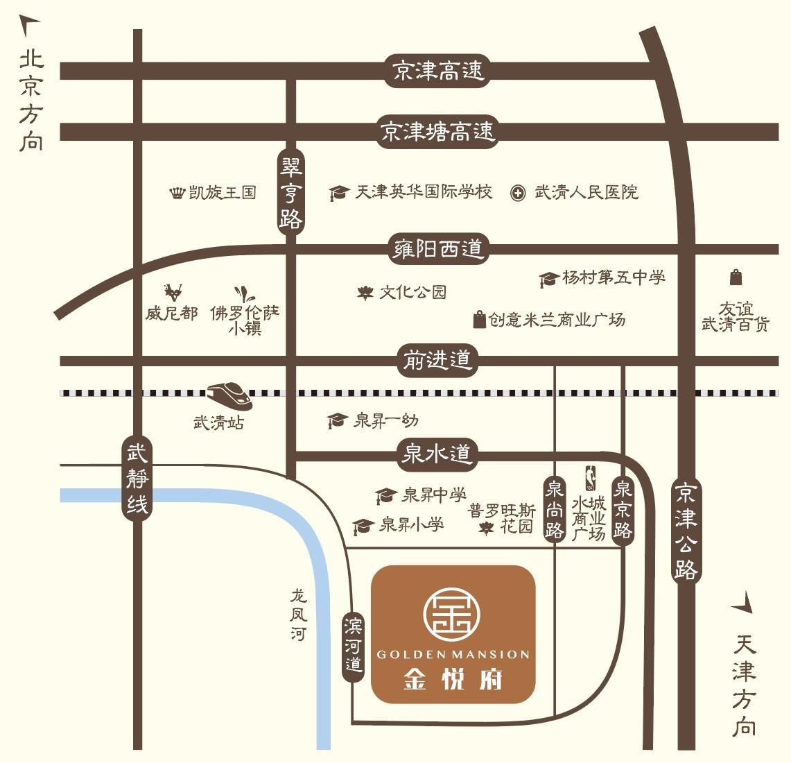 金融街金悦府交通图