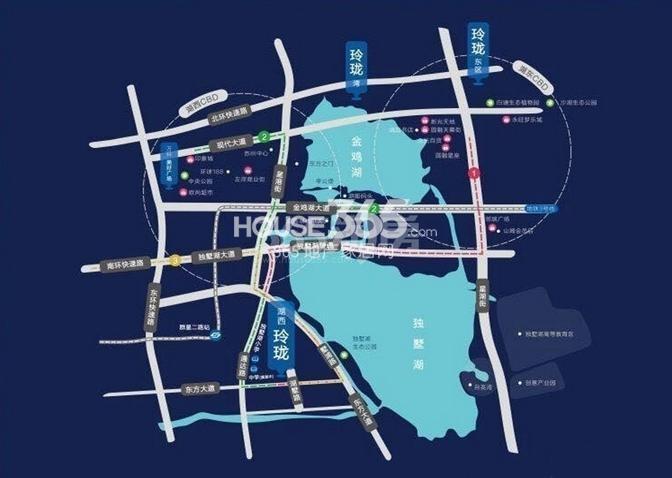万科湖西玲珑交通图