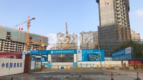 世茂时光里1#、7#楼工程进度实景图(2018.1摄)