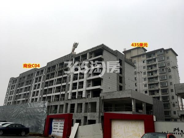 澜岸铭邸商业C04、435单元小高层工程进度实景图(2018.1摄)