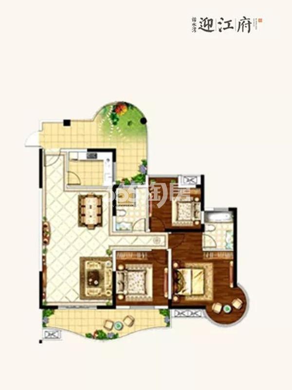 3室2厅2卫  130㎡