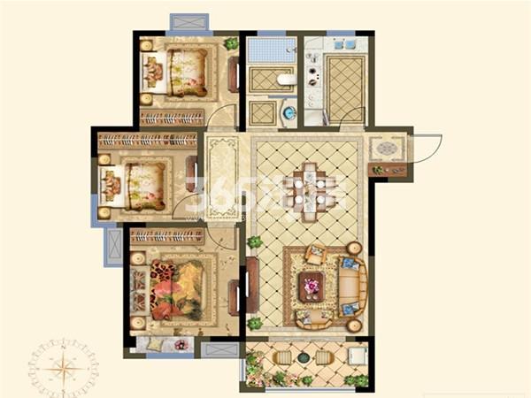 A高层户型 3室2厅 113㎡