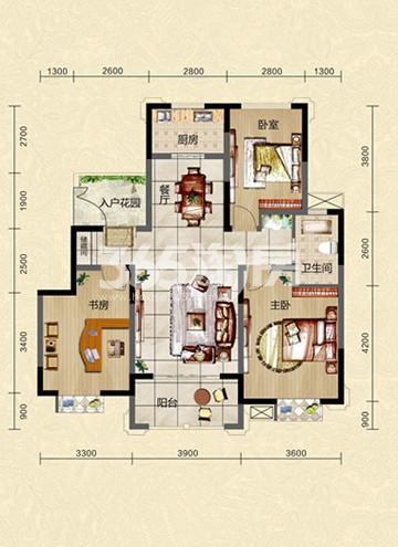 H1 3室2厅1卫 108.29㎡