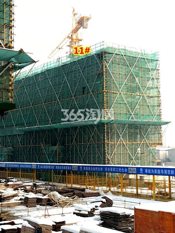 中锐星公元11#楼工程实景(2018.1摄)