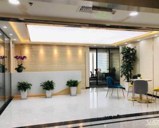 奥体东地铁口落地窗带家具中泰国际新地中心金融城