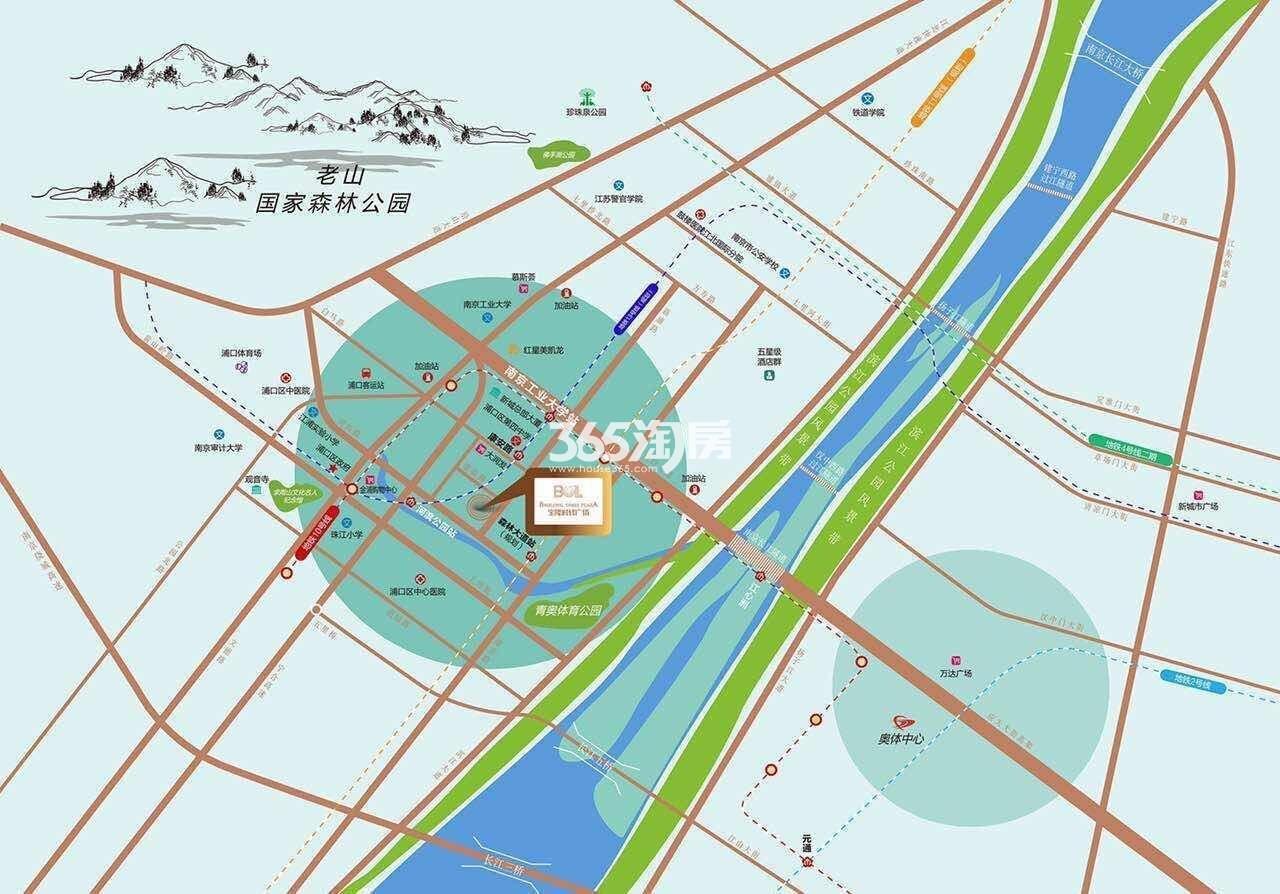宝隆时代广场交通图
