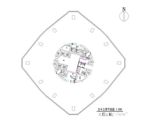 秦淮区新街口南京中心大厦0室0厅户型图
