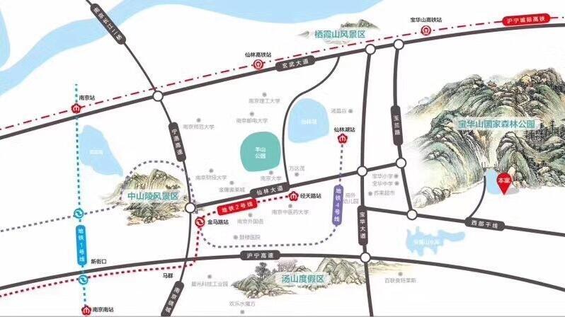 东原亲山交通图