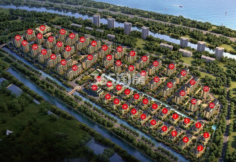 东南钱江蓝湾鸟瞰图