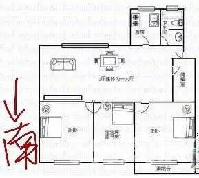 银屏花园 三室两厅 地铁口38中双学区 三室朝南通透全明 产权清晰