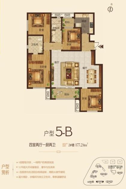 华鼎中央都会项目户型5-B