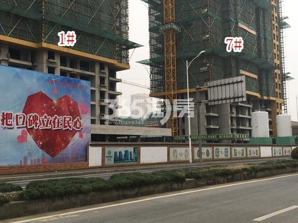 栖霞东方天郡三期高层1#、7#楼实景图(2018.2 摄)