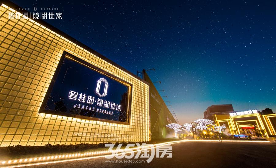 碧桂园镜湖世家营销中心夜景实景图(2018.8摄)