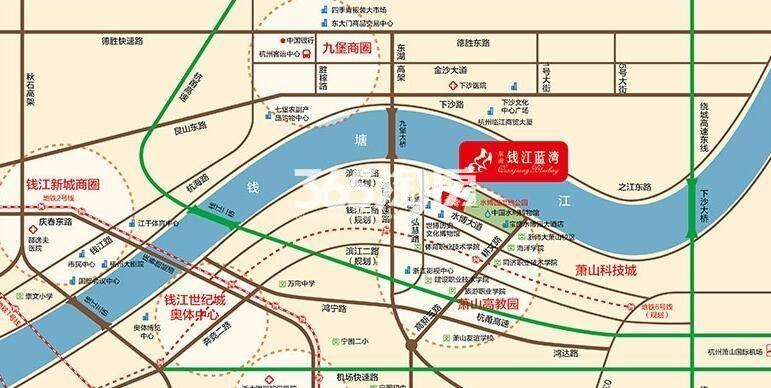 东南钱江蓝湾交通图