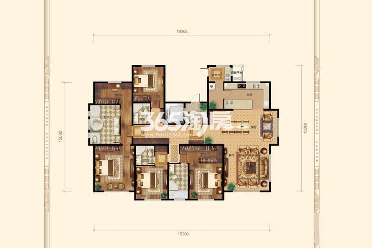 4室2厅4卫1厨282平米