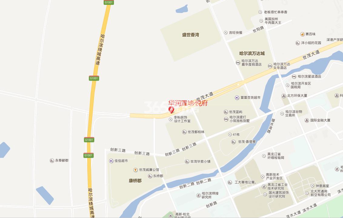 华润置地·悦府交通图